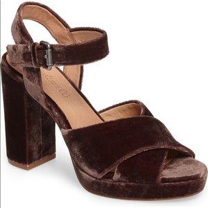 Madewell Vanessa Velvet Platform Heel